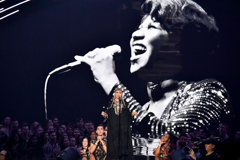 Madonna turned her tribute to Aretha Franklin into a tribute to Madonna at the 2018 MTV VMAs.