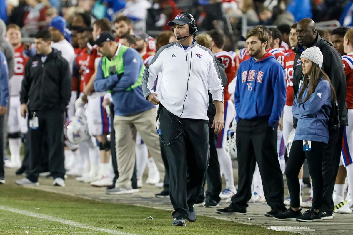 Louisiana Tech Bulldogs head coach Skip Holtz during the Armed Forces Bowl between the Navy Midshipmen and Louisiana Tech Bulldogs on December 23, 2016, at Amon G. Carter Stadium in Fort Worth, TX. Louisiana Tech defeats Navy 48-45