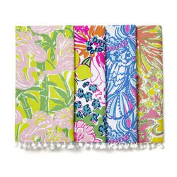 4-pack napkins with pom pom trim, $10