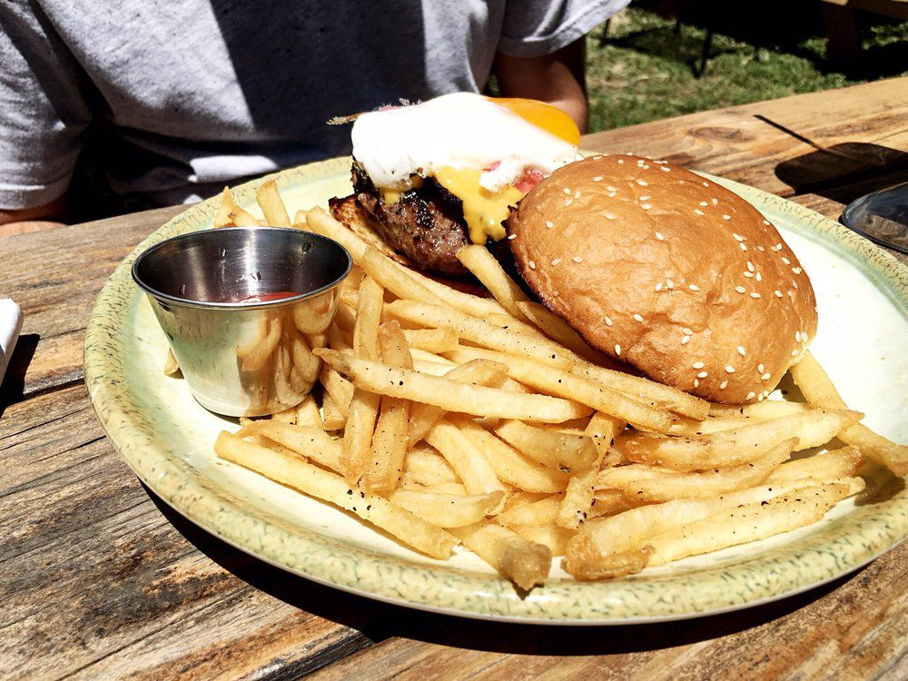 Burgers and fries from Little Darlin'