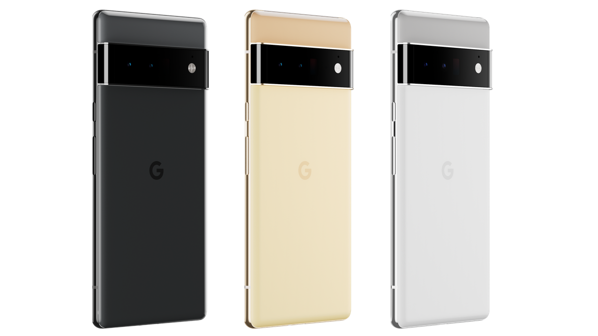 The Pixel 6 Pro comes in three staid color options.