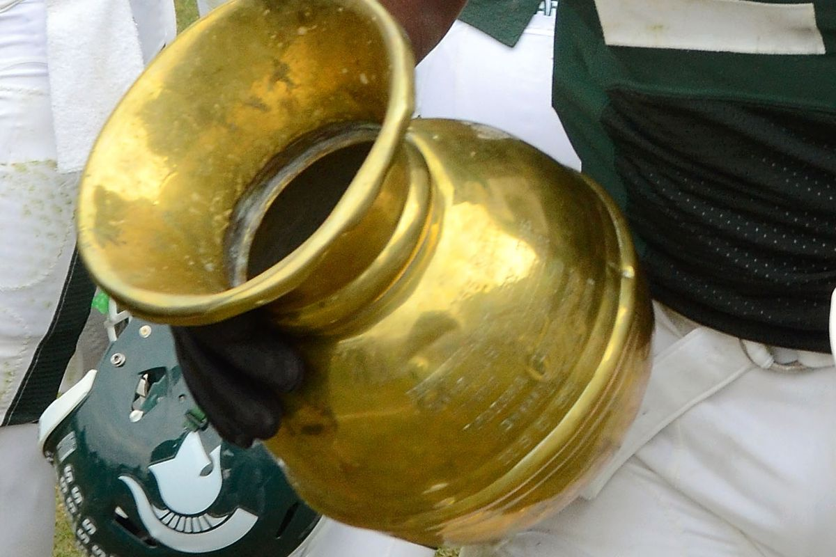 9b14b96342 The Old Brass Spittoon! Photo by Mark A. Cunningham Getty Images. Indiana  and Michigan State ...