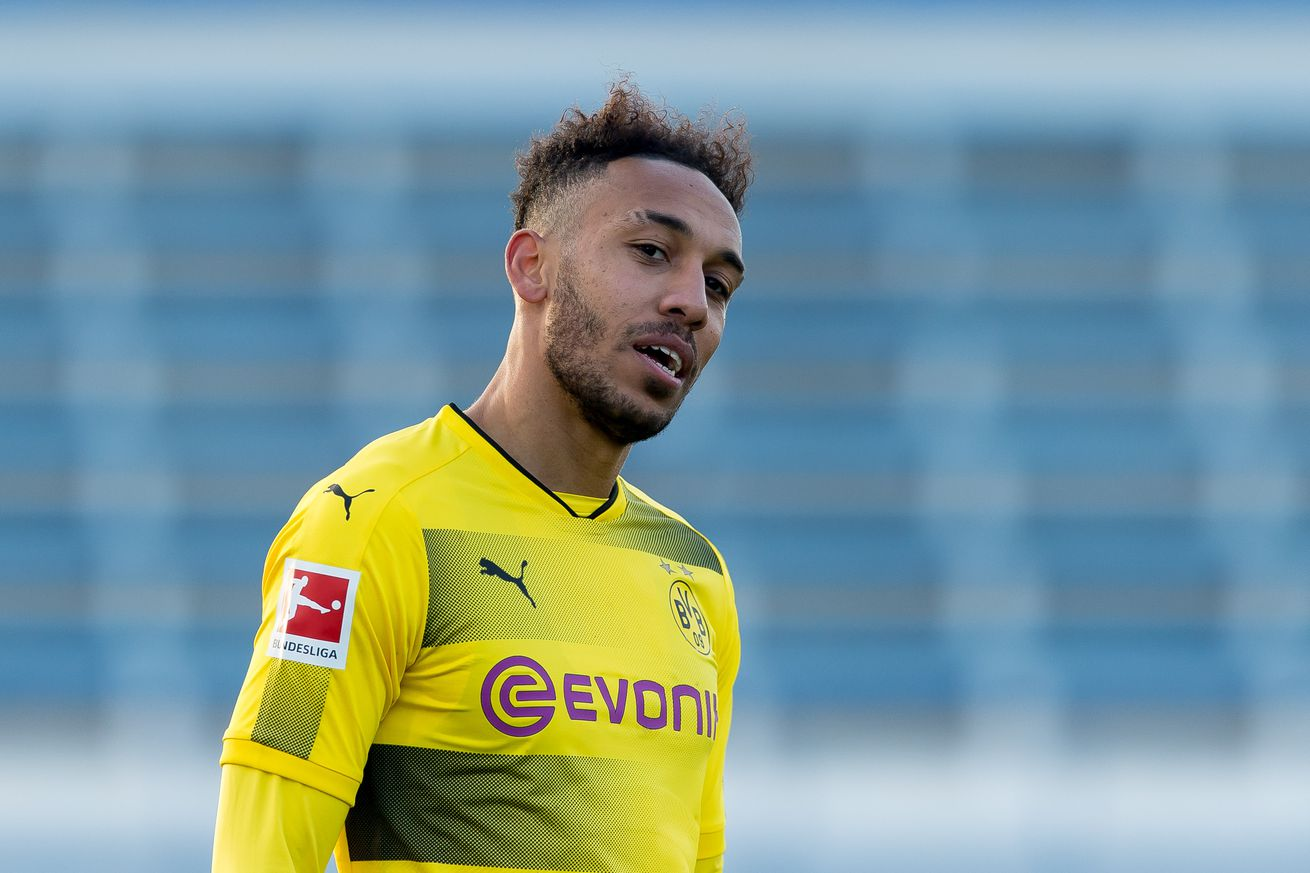 Despite reports, Arsenal have yet to make a bid for Pierre-Emerick Aubameyang