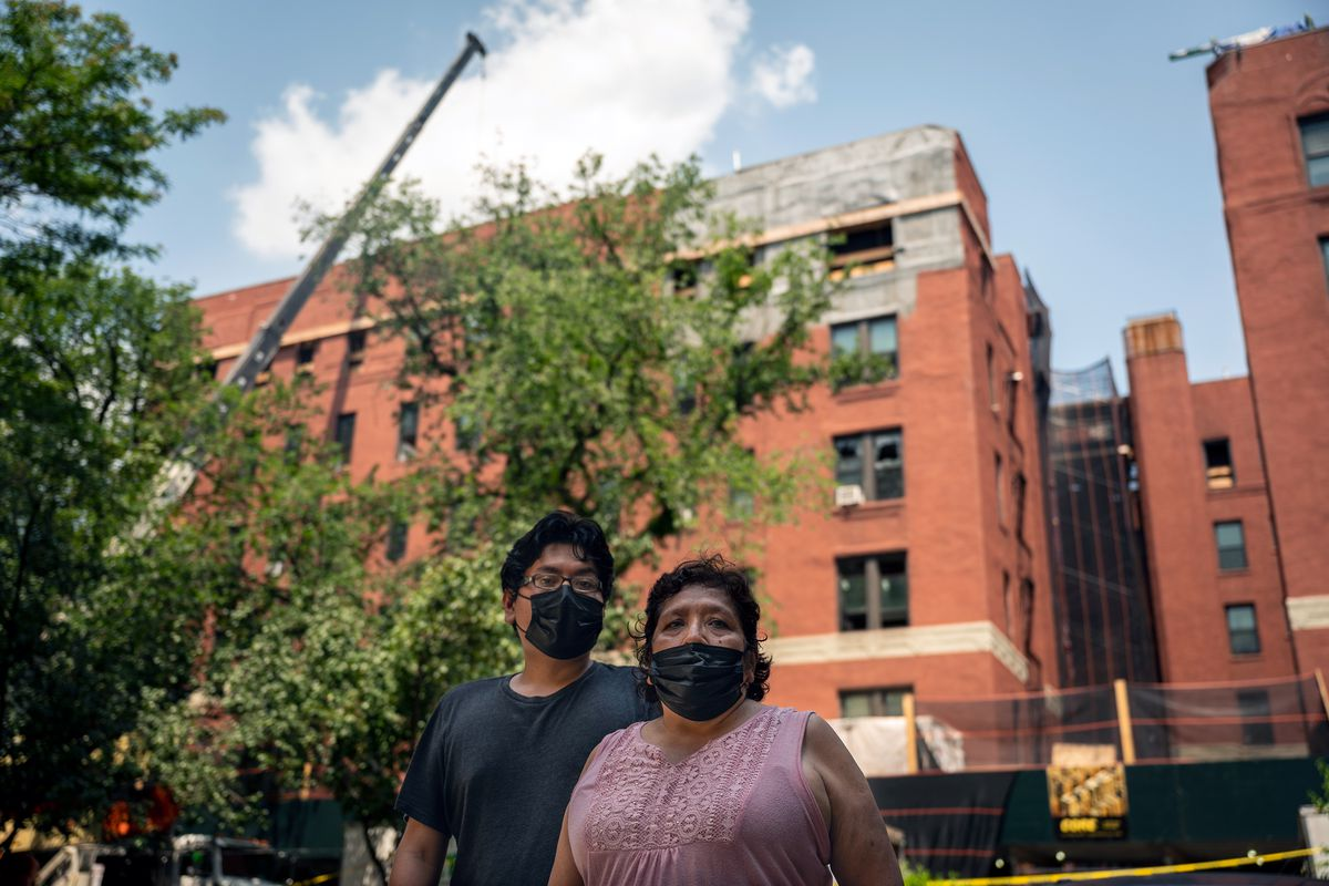 Stephen Hernandez, 28, and his mother Ofelia Orea, 63, lost their Jackson Heights home of over 20 years after a fire badly damaged their building.