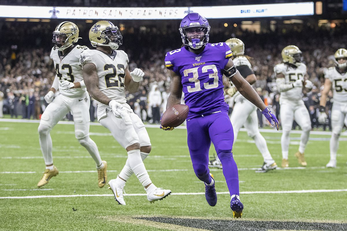 The Minnesota Vikings beat the New Orleans Saints in overtime in a Wild Card game