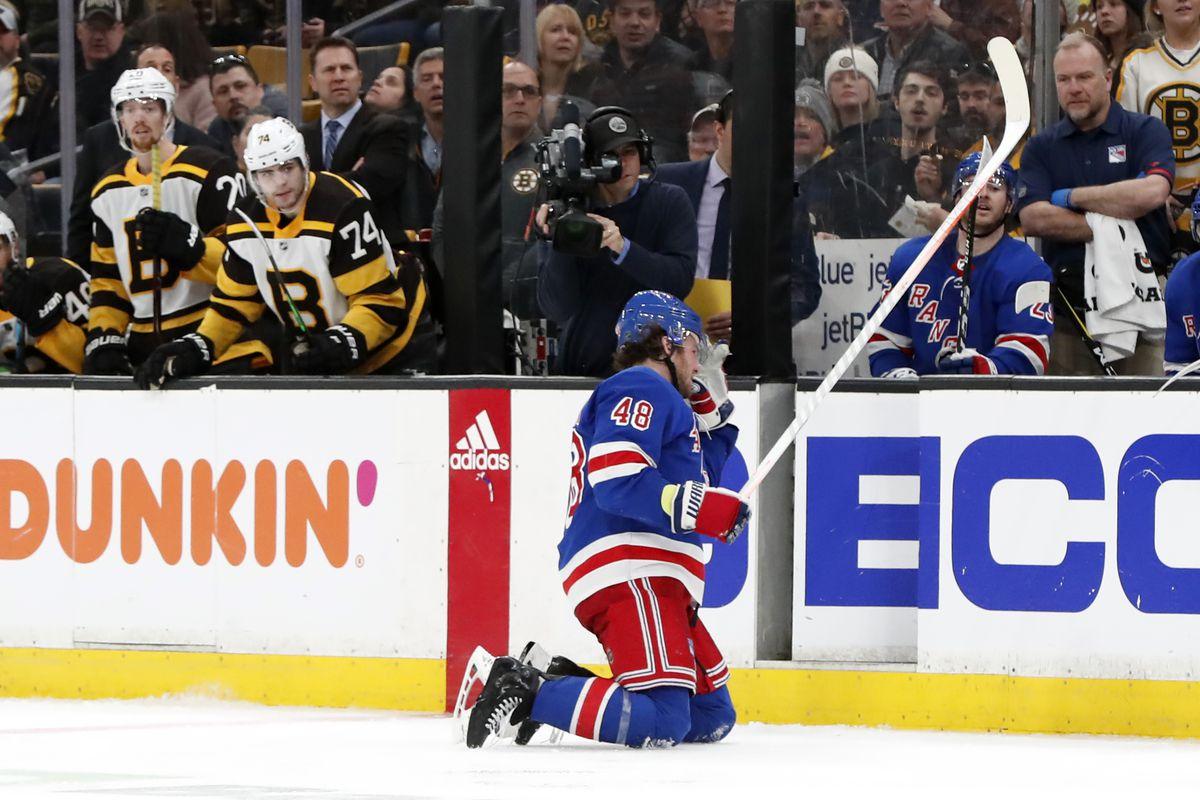 NHL: MAR 27 Rangers at Bruins