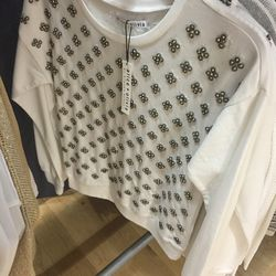 Beaded sweater, $159 (was $330)