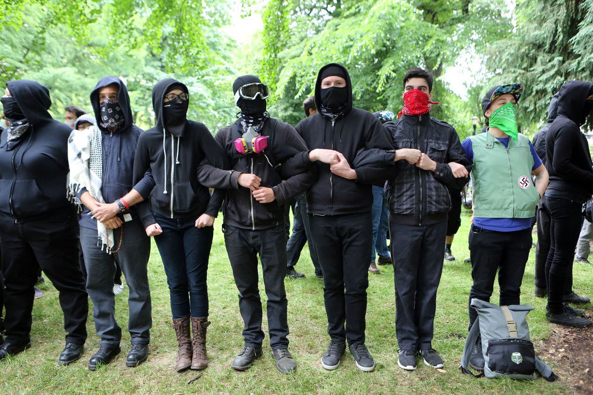 Pro-Trump Activists And Counter-Protestors Hold Dueling Rallies In Portland