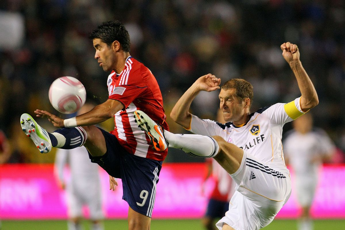 Chivas USA's Juan Pablo Angel (left) was among the players who were part of last year's MLS re-entry draft.(Photo by Victor Decolongon/Getty Images)