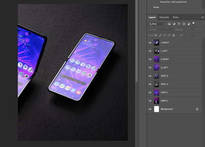 Batch exporting layers in Photoshop.