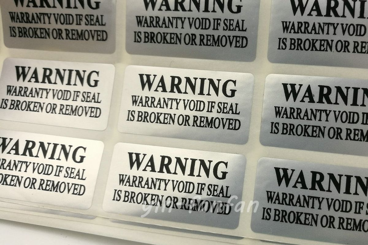 FTC Claims 'Warranty Void If Removed' Stickers Are Illegal