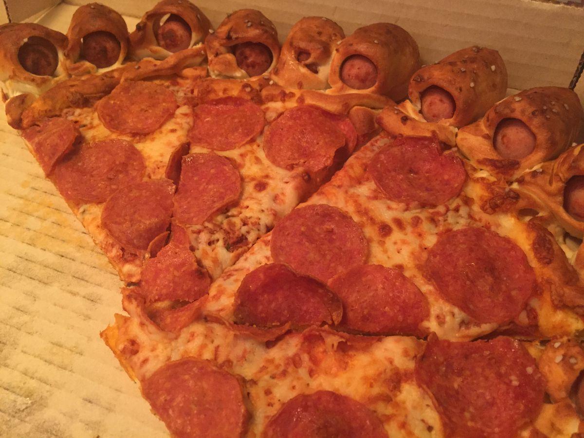 Hot Dog Bites Pizza Post-Refrigeration