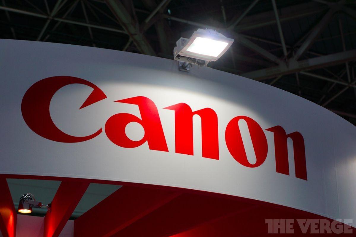 canon logo stock