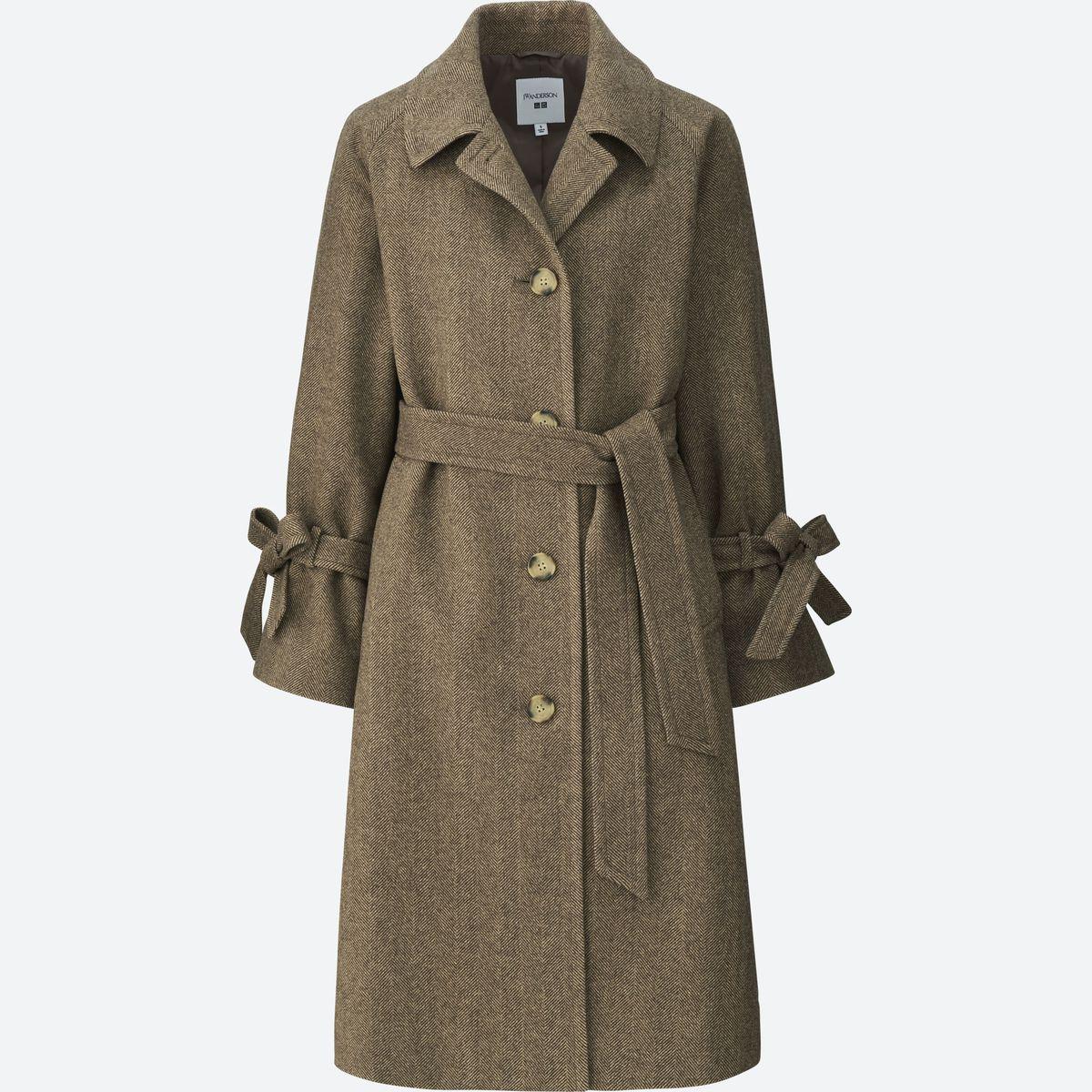 A brown tweed coat