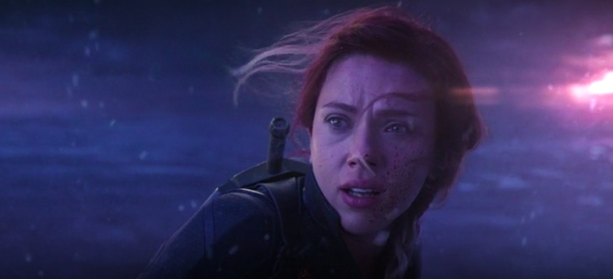 Black Widow (Scarlett Johansson) looks fearfully over her shoulder just before sacrificing herself on Vormir, in an unused, deleted scene from Avengers: Endgame.