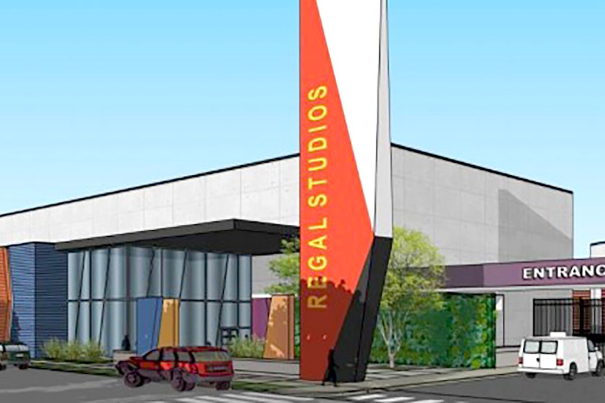 A rendering of part of the South Side studio complex proposed by Regal Mile Ventures.