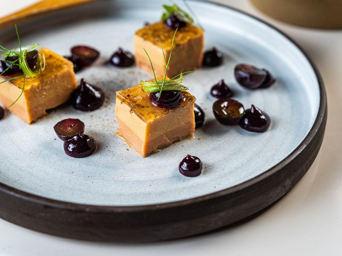 Bites of foie gras from Bresca