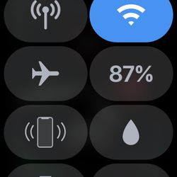 Before swimming, tap the water drop icon in the Command Center.