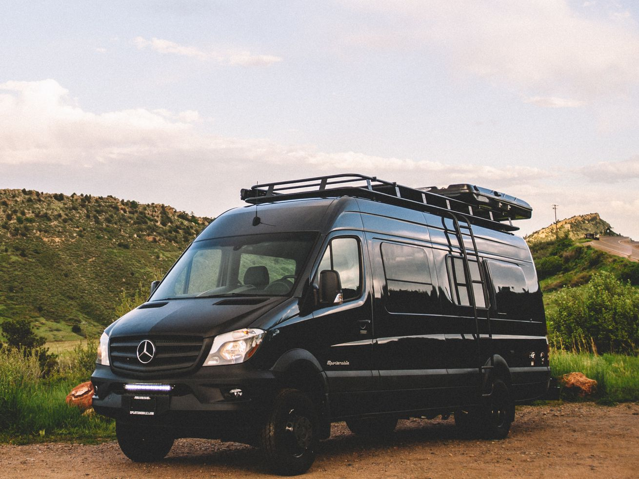 """In my <a class=""""ql-link"""" href=""""https://www.curbed.com/2018/7/11/17550142/camper-van-conversion-vanlife-sportsmobile"""" target=""""_blank"""">custom Sportsmobile Sprinter</a>, the microwave is one of the van's most-used features."""