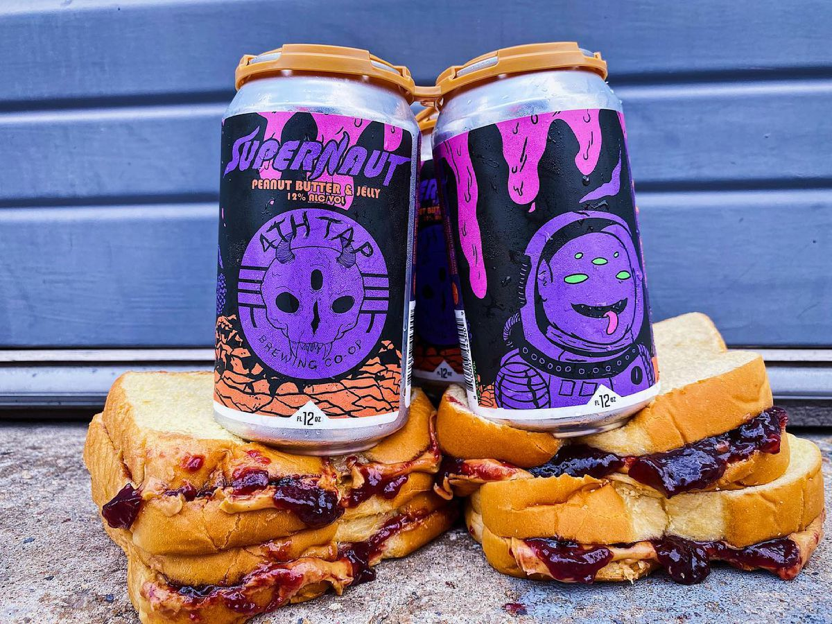 The peanut butter and jelly beer at 4th Tap