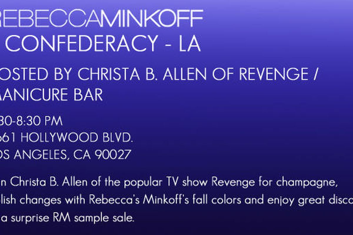 One last FNO straggler worth mentioning: Rebecca Minkoff's party at Confederacy
