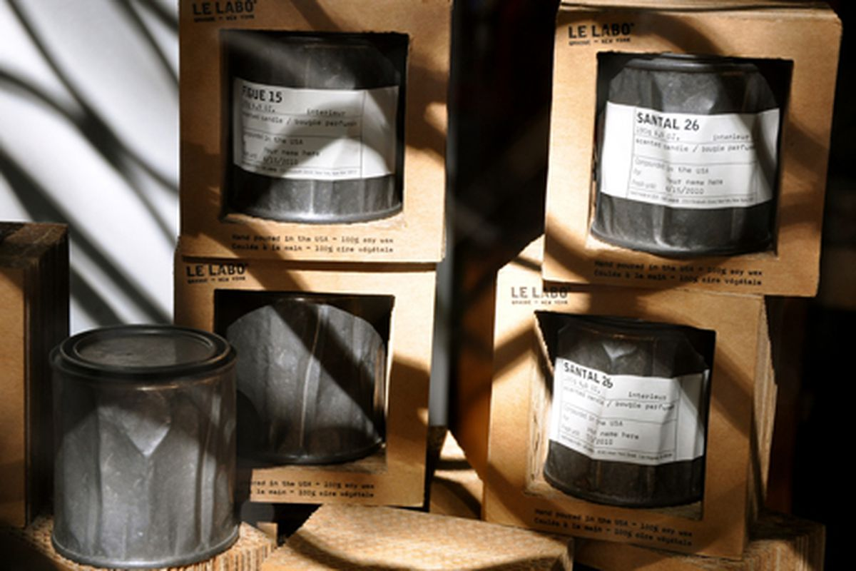 """Moody Le Labo candles via <a href=""""http://www.flickr.com/photos/essgee/4690398409/in/pool-312691@N20"""">EssG</a>/Racked Flickr Pool"""