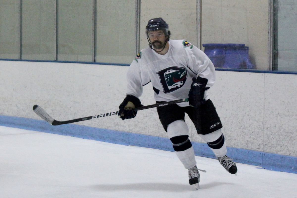 August 12, 2012. Littleton, CO. Jay Meloff participates in the Denver Cutthroats All Star Game on the final day of free agent tryouts.