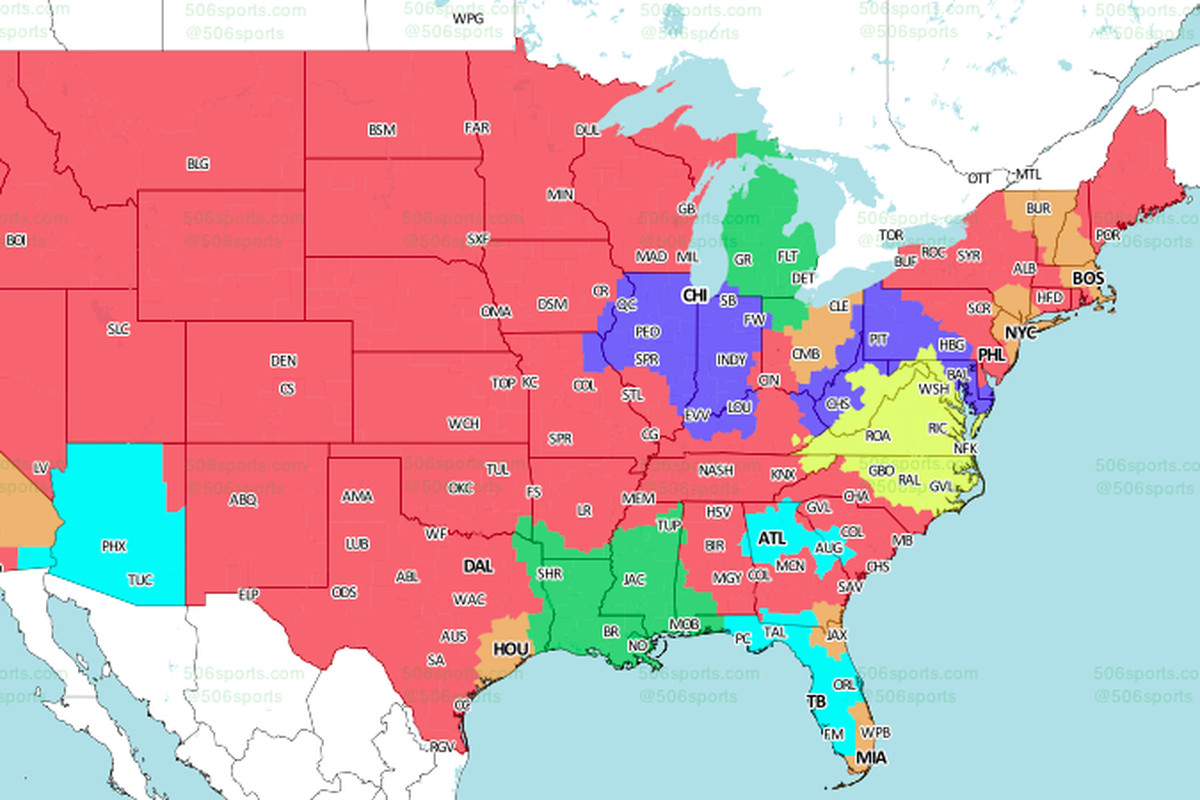 ErsWashington TV Schedule Broadcast Maps In The US - Washington on the us map