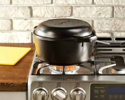 Lodge Cast Iron Double Dutch Oven