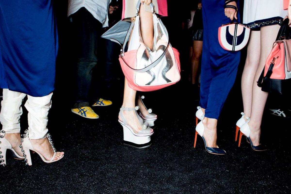 "There will definitely be a line. Image via <a href=""http://www.vogue.com/fashion-week/spring-2013-rtw/diane-von-furstenberg/candids/"">vogue.com</a>"