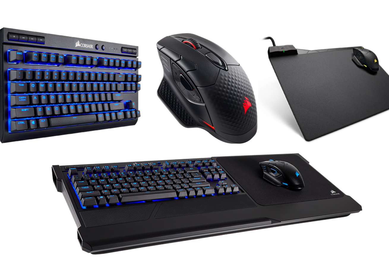 corsair releases a new wireless mechanical keyboard and a mouse pad that doubles as a wireless charger