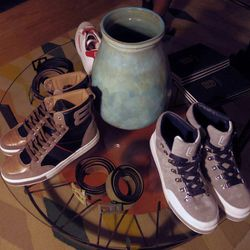 Cool kicks and luxe leather belts.