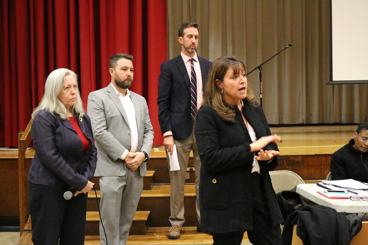 District 3 Superintendent Ilene Altschul, right, has proposed a middle school integration plan.