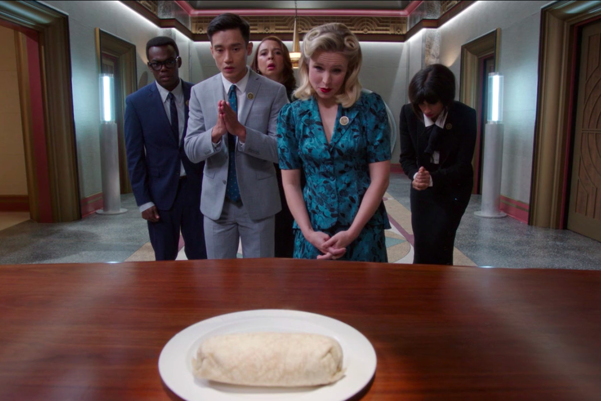 Image result for the good place the burrito