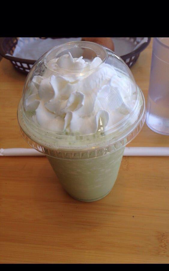 Cafe Creme's matcha green tea frappe