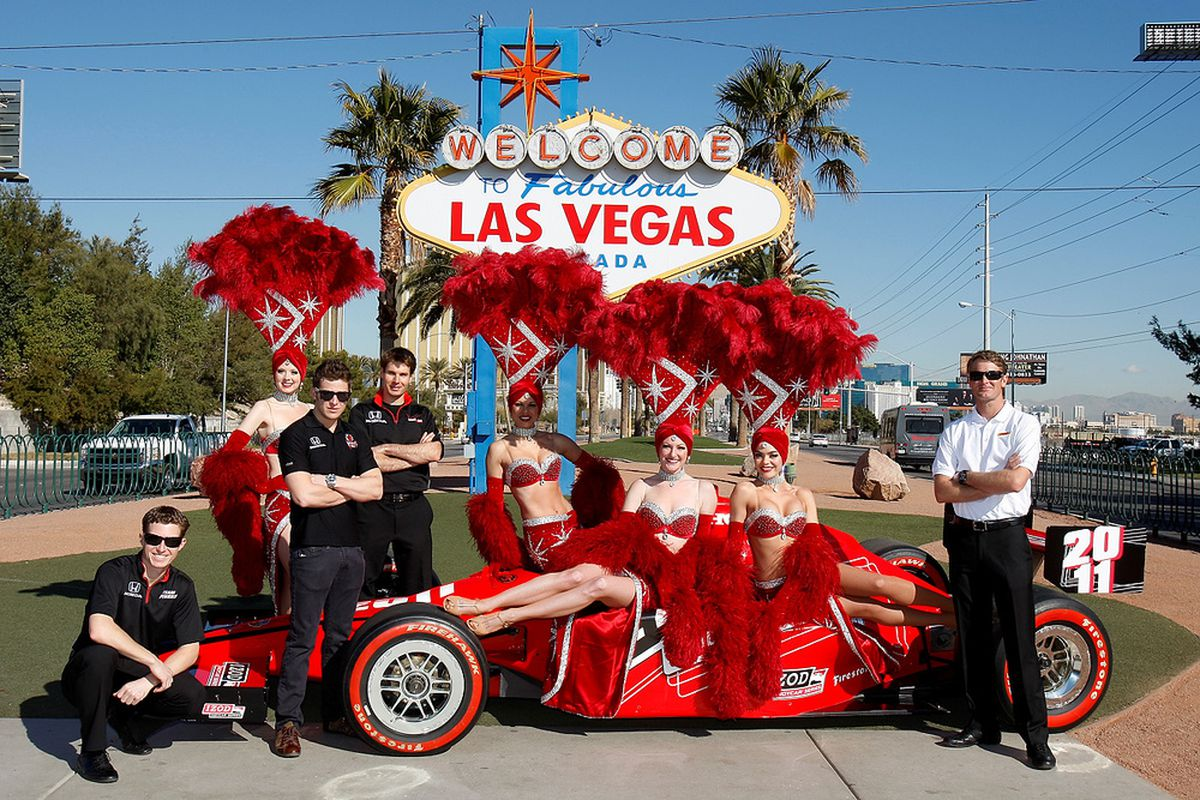 """The IZOD IndyCar Series will conclude its 2011 season in Las Vegas, with five """"invited"""" drivers racing to win an additional $5 million purse. (Photo: IMS Photo)"""