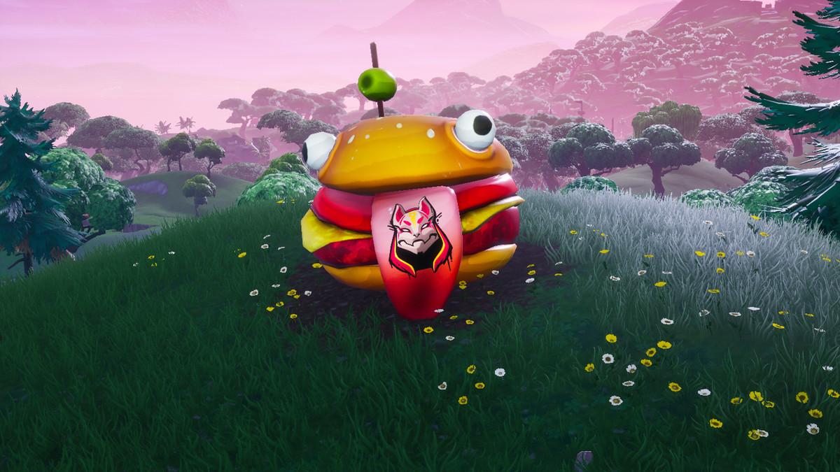 Fortnite Painted Durrr Burger Head Dinosaur And Stone Head