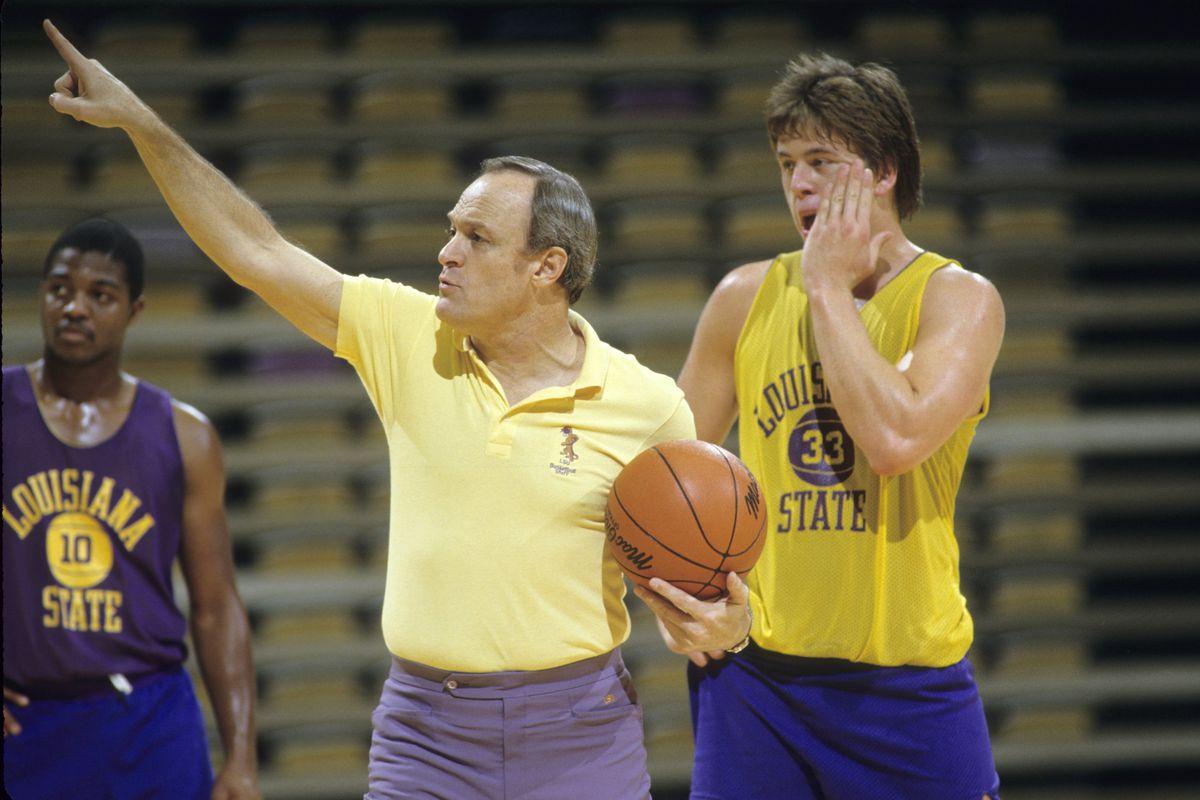 Louisiana State University Coach Dale Brown