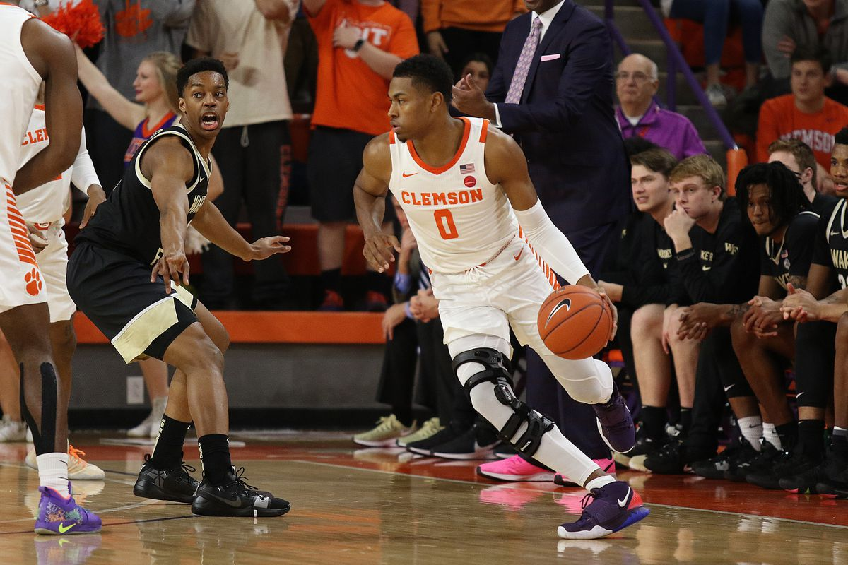 COLLEGE BASKETBALL: JAN 21 Wake Forest at Clemson