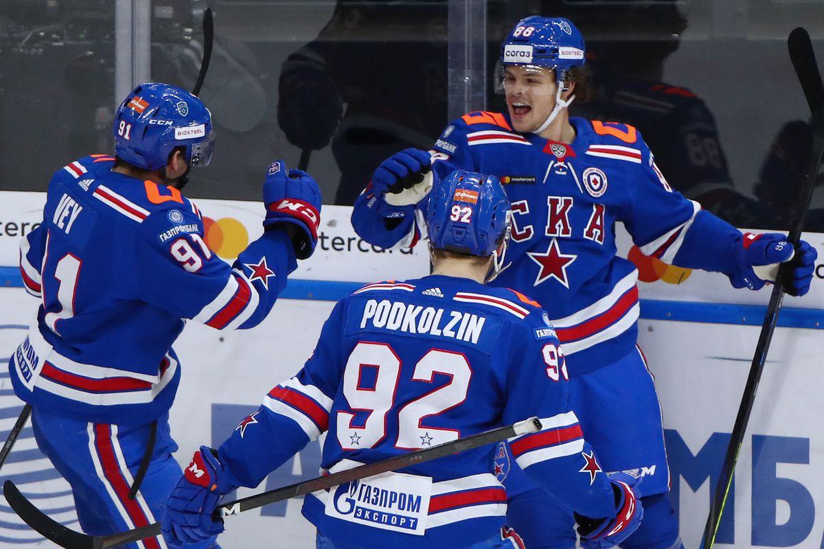 Kontinental Hockey League: SKA St Petersburg vs Spartak Moscow