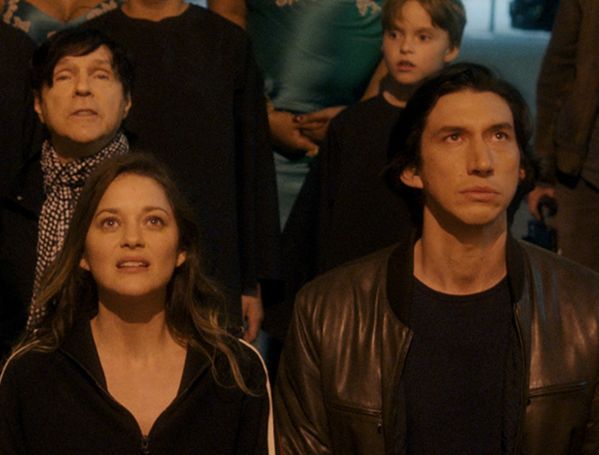"""Marion Cotillard and Adam Driver on the cover art for """"So We May Start"""" from Annette"""
