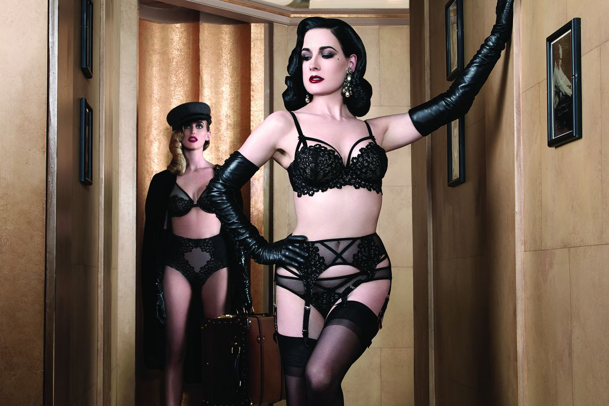 Dita Von Teese Lingerie Collection, available at Bloomingdales. Courtesy image.