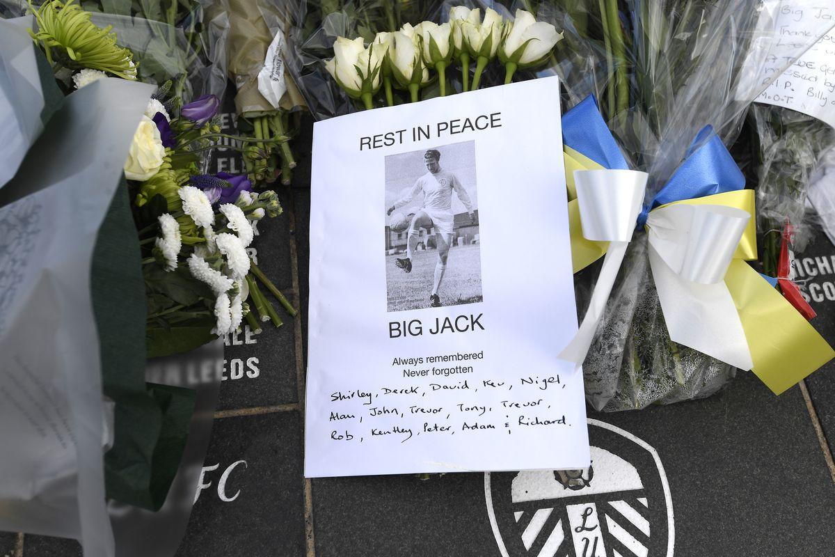 Tributes to Jack Charlton at Elland Road home of Leeds United