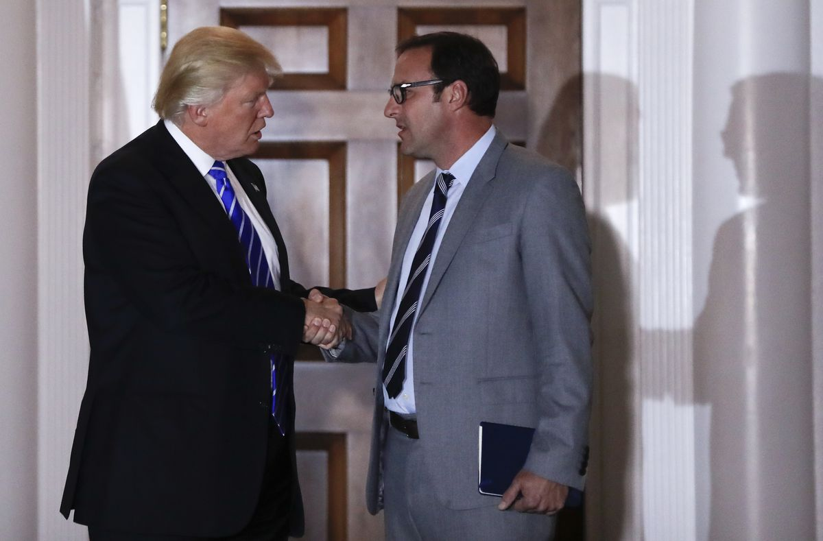 Donald Trump with Todd Ricketts, a co-owner of the Chicago Cubs.