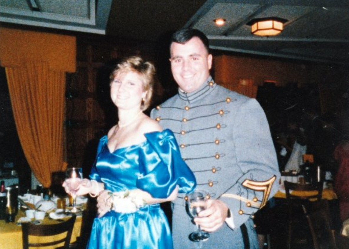Drew with his wife of 32 years, Susan