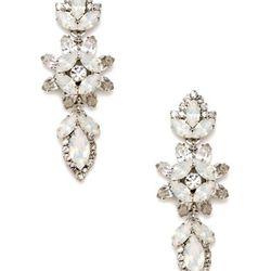 "<a href=""http://www.gilt.com/sale/women/bridal-fashion-jewelry/product/1028082638-elizabeth-cole-white-opal-crystal-floral-drop-earrings"">White Opal Crystal Floral Drop Earrings</a>, $159 (was $330)"