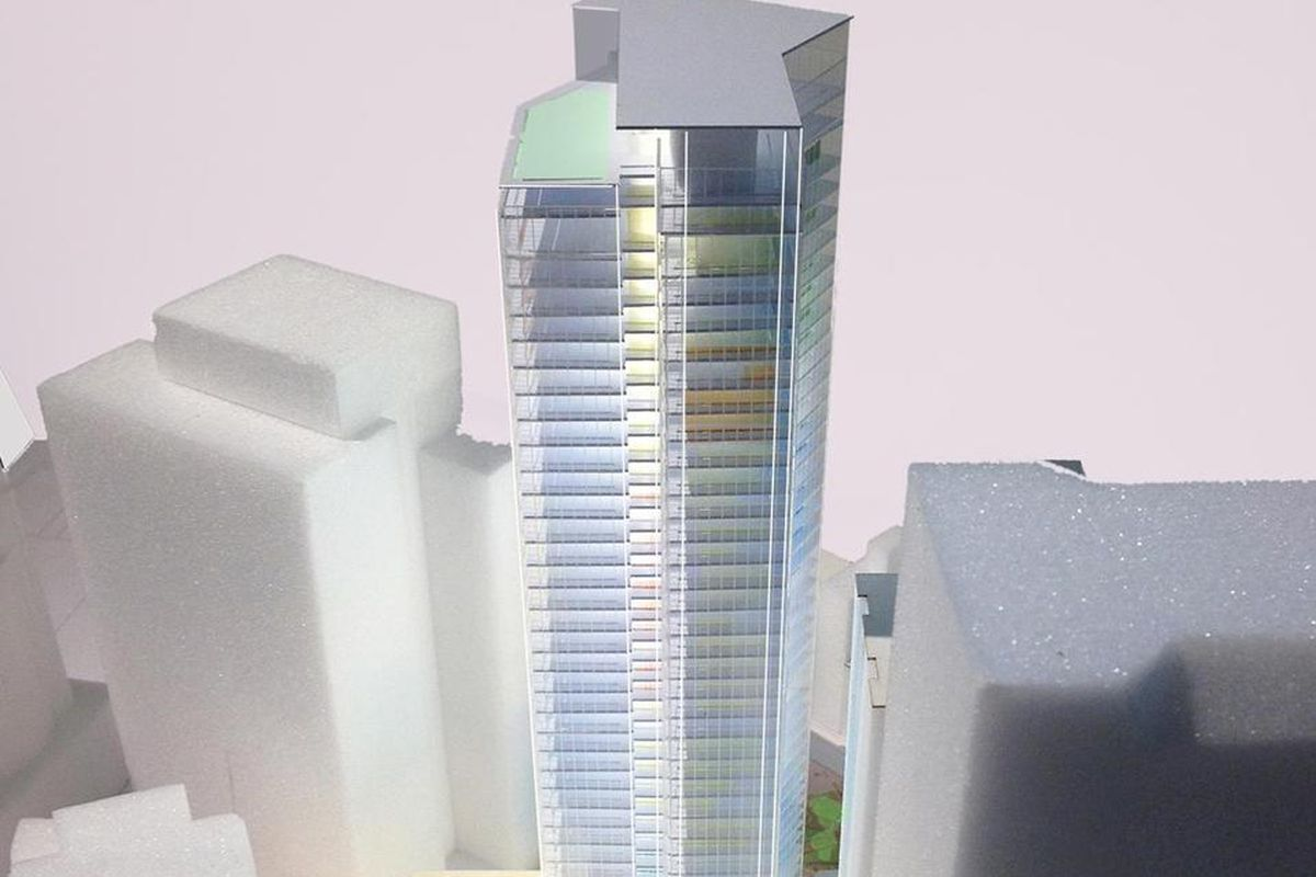 Rendering of the Financial District tower