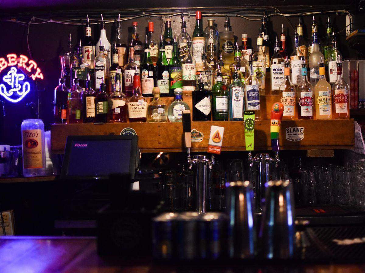 The bar at The Liberty