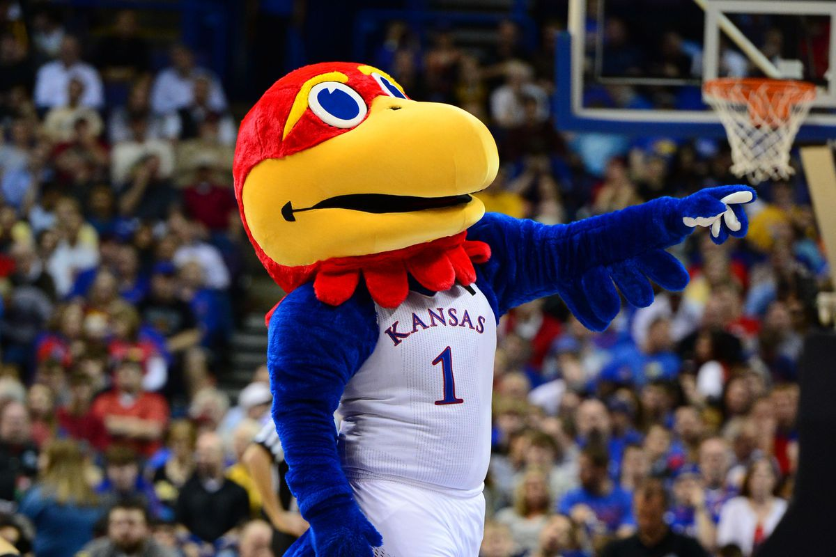 Kansas has the last game of the broadcast window on Tuesday, so they get the mascot pic.