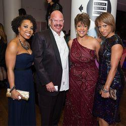 Mitzi Miller, Radio Personality Tom Joyner, Linda Johnson Rice and EBONY Magazine editor-in-chief Amy DuBois Barnett